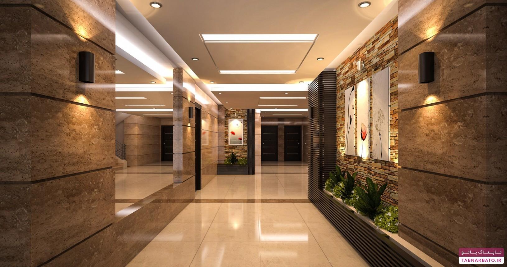 ایدههایی برای طراحی لابی و ورودی ساختمان